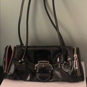 RARE Cole Haan black patent leather purse